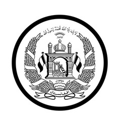 Symbol afghanistan icon - iconic design vector