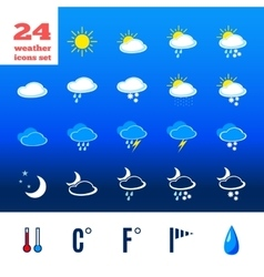 Symbols for climate changes diagnostic vector image