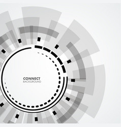 technology circle design vector image