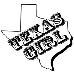 texas girl on map texas vector image