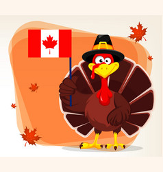 Thanksgiving greeting card with a turkey bird vector