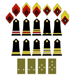 The French army insignia vector image