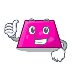 Thumbs up trapezoid character cartoon style vector