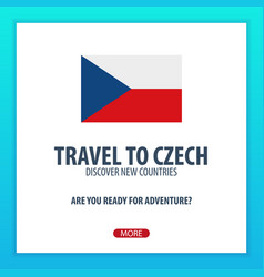 Travel to czech discover and explore new vector