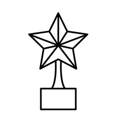 trophy star isolated icon vector image
