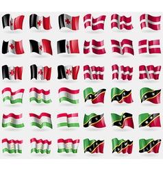 Udmurtia Denmark Tajikistan Saint Kitts and Nevis vector
