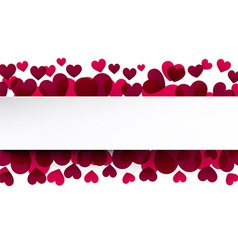 Valentines background with pink hearts vector image