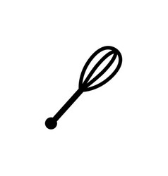 whisk icon in flat style for apps ui websites vector image
