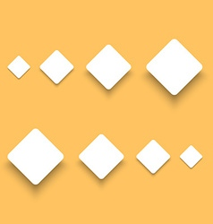 White Material Design Paper Buttons with Shadow vector image vector image