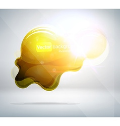 Yellow Blob Background vector