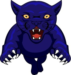 angry panther cartoon vector image vector image