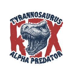 Dinosaur head trex monster vector