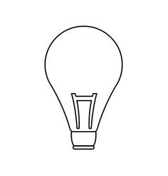 bulb creativity idea think innovation icon vector image vector image