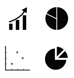 chart icon set vector image vector image
