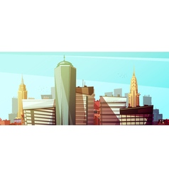 Manhattan Cityscape Background With Skyscrapers vector image