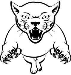 panther tattoo tribal vector image