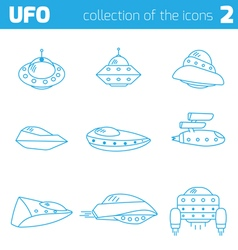 ufo alien ships icon part two vector image