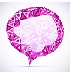 Abstract triangles idea bubble vector image vector image