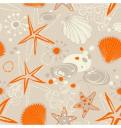 beach seamless pattern vector image vector image