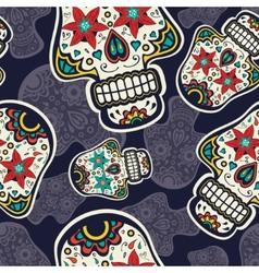 Sugar skulls pattern vector image