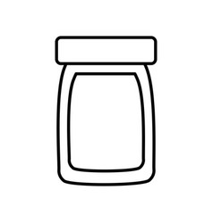 bottle glass plastic cap object outline image vector image vector image