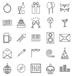 Celebration line icons on white background vector image vector image
