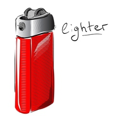 Lighter cartoon sketch vector image