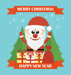 merry christmas happy new year modern concept flat vector image vector image