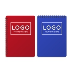 Realistic office notebook diary vector image