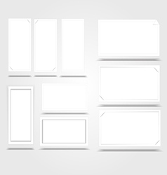 Vertical White Frame Paper Background with drop vector image vector image