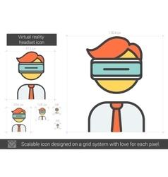 Virtual reality headset line icon vector image