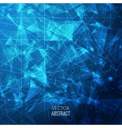 3D Blue Abstract Business Background with vector image