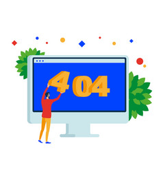404 error page web site on desktop computer vector image