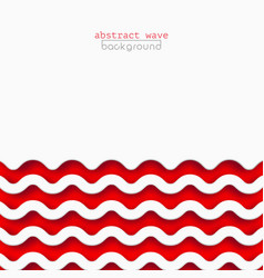 abstract red waves background for design vector image