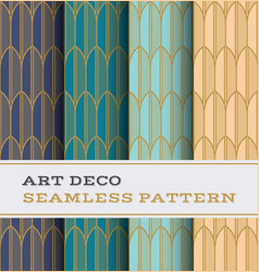 art deco seamless pattern 34 vector image
