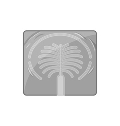 Artificial islands in UAE icon monochrome style vector image