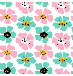big flowers seamless pattern vector image