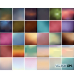 Big set soft colored abstract background vector