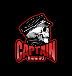 Black skull mascot sport esport logo template for vector