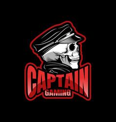 black skull mascot sport esport logo template vector image