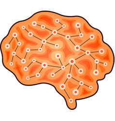 brain with circuit vector image