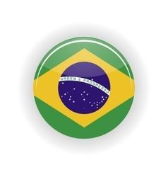 Brazil icon circle vector image
