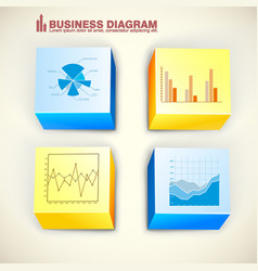 Business squares infographics vector