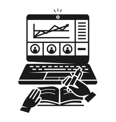 Business webinar icon simple style vector