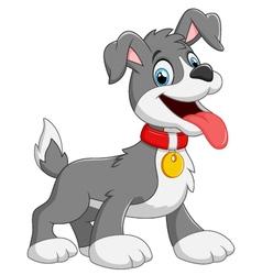 Cartoon dog on white background vector