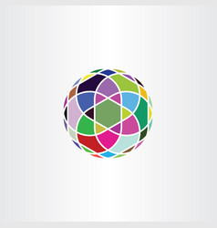 circle colorful logo geometric business icon vector image