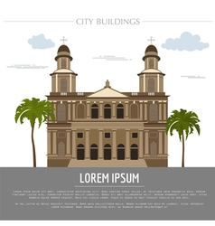City buildings graphic template Nicaragua vector image