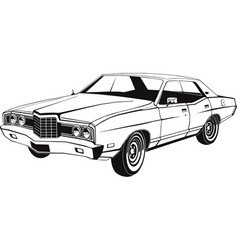 classic full-size american sedan art vector image