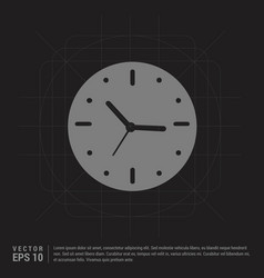 Clock icon - black creative background vector