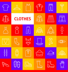 clothes line icons vector image